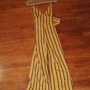 A stripped jumpsuit